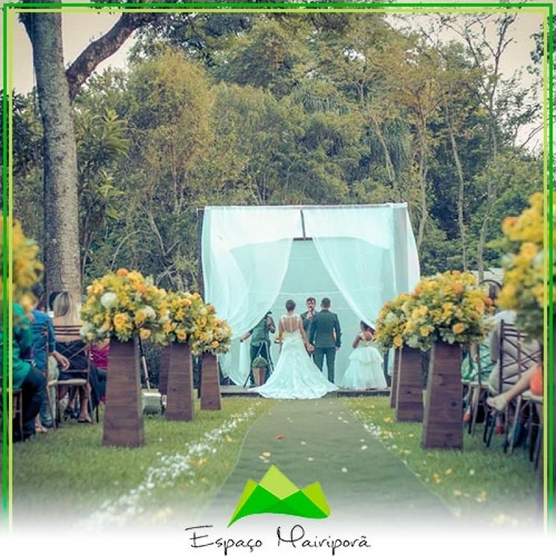 Onde Encontro Local para Festa de Casamento Mairiporã - Espaço para Casamento ao Ar Livre