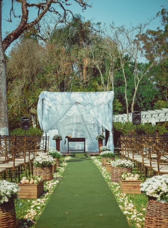 Salão para Festa de Casamento no Sitio Nossa Senhora do Ó - Festa Casamento