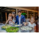 buffet de festa de casamento Casa Verde