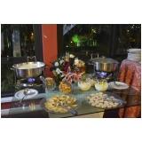 buffet para festa de bodas de casamento Parque Peruche
