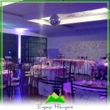 buffets para eventos sociais Anália Franco