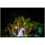 empresa de festa de casamento no sitio Vila Mazzei