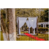 festa de casamento no sitio preço Vila Albertina