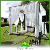 locação de espaço para casamento ao ar livre