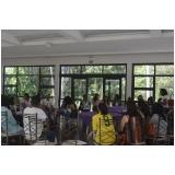 onde encontrar espaço de festa para palestra Parque do Carmo