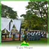 onde encontro espaço para casamento no campo Caieiras