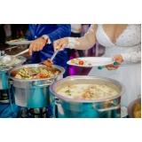preço de buffet chique para casamento Água Rasa