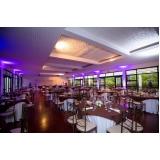 salão de festa com buffet