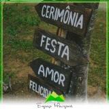 sítios para casamento alugar Cantareira
