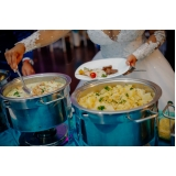 valor de buffet chique para casamento Vila Endres