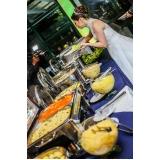 valor de buffet para casamento simples Anália Franco